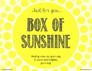 Smash Cake SoCal | Box of Sunshine, FREE digital download, free printable