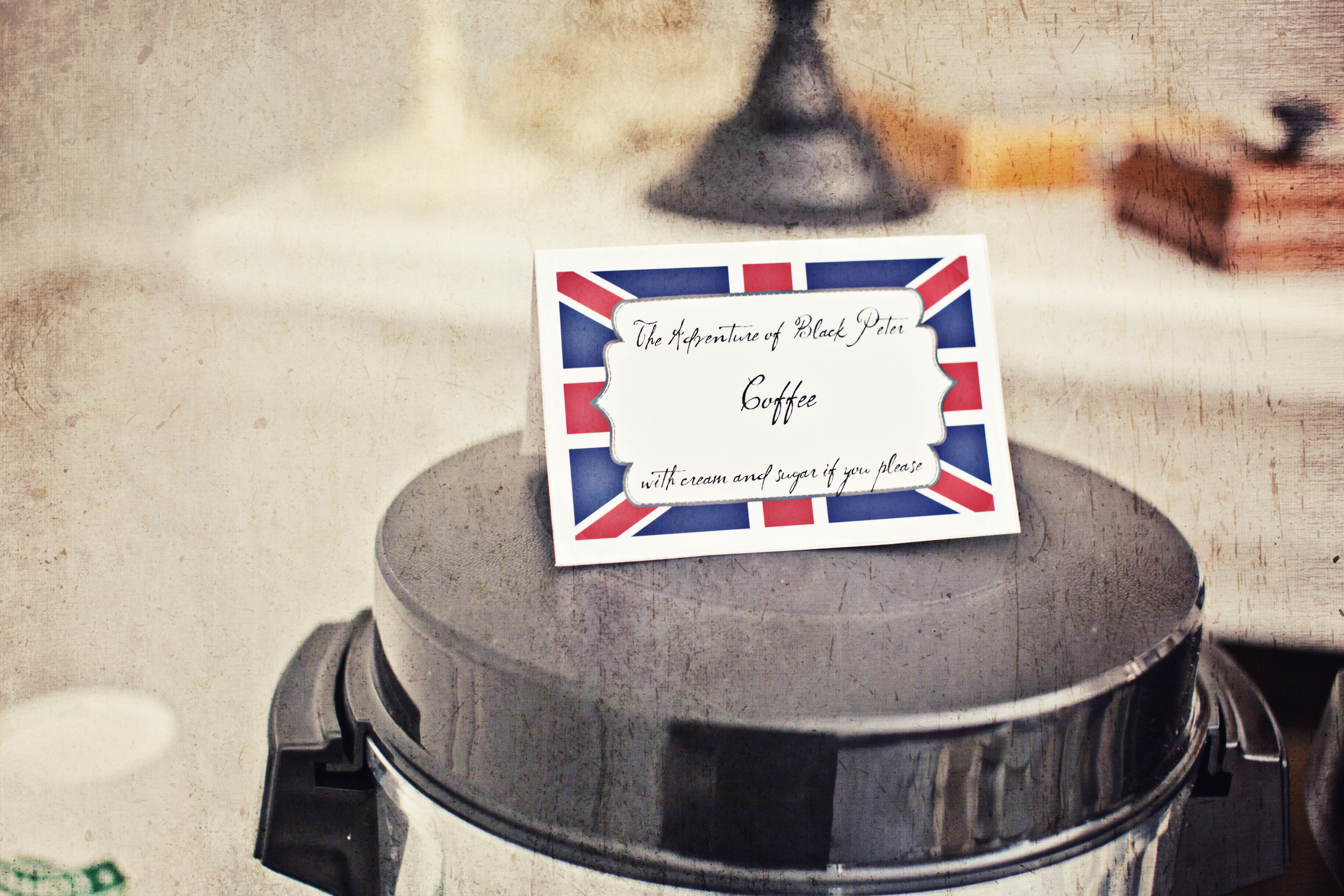 Moriarty, Sherlock Holmes, tea time, british party decor, sherlock holmes party, food labels
