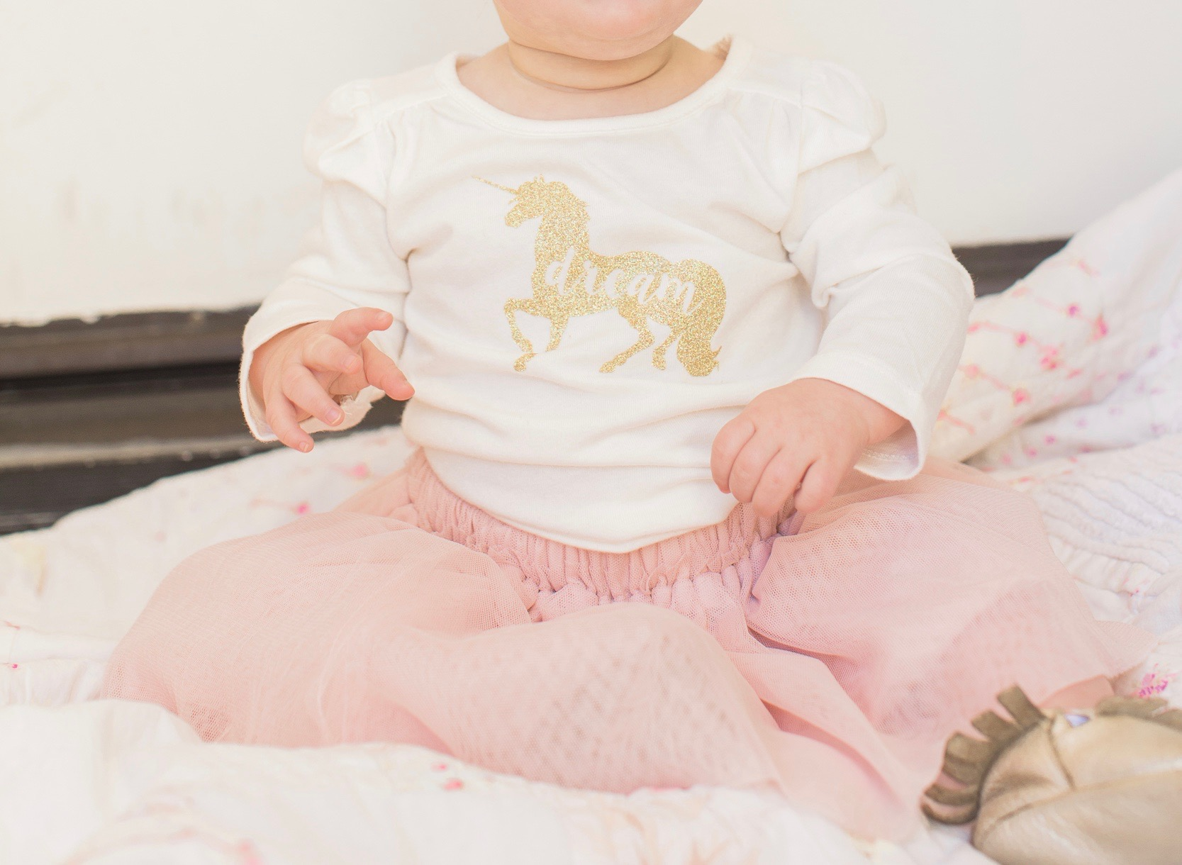 Marigold Mom | Magical Pink & Gold Unicorn Birthday Party Shirt made with Silhouette Cameo