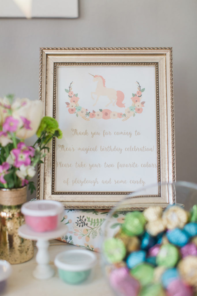 Marigold Mom | Magical Pink, Gold & Mint Unicorn Birthday Party Favors
