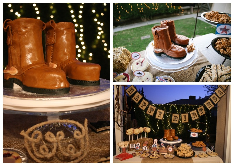 Smash Cake SoCal|Rustic Western Cowboy 1st Birthday Party {Twin Boys} - WOW! Awesome boot cake!