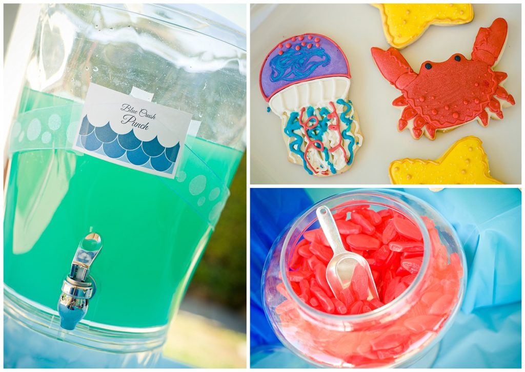 Marigold Mom | Under the Sea Water Party , Summer Party, Fish, Party Food, Jellyfish Cookie, Crab Cookie, Drinks