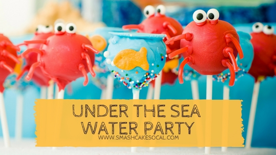 Smash Cake SoCal | under the sea water party, summer party, kids party, jellyfish, ocean, beach