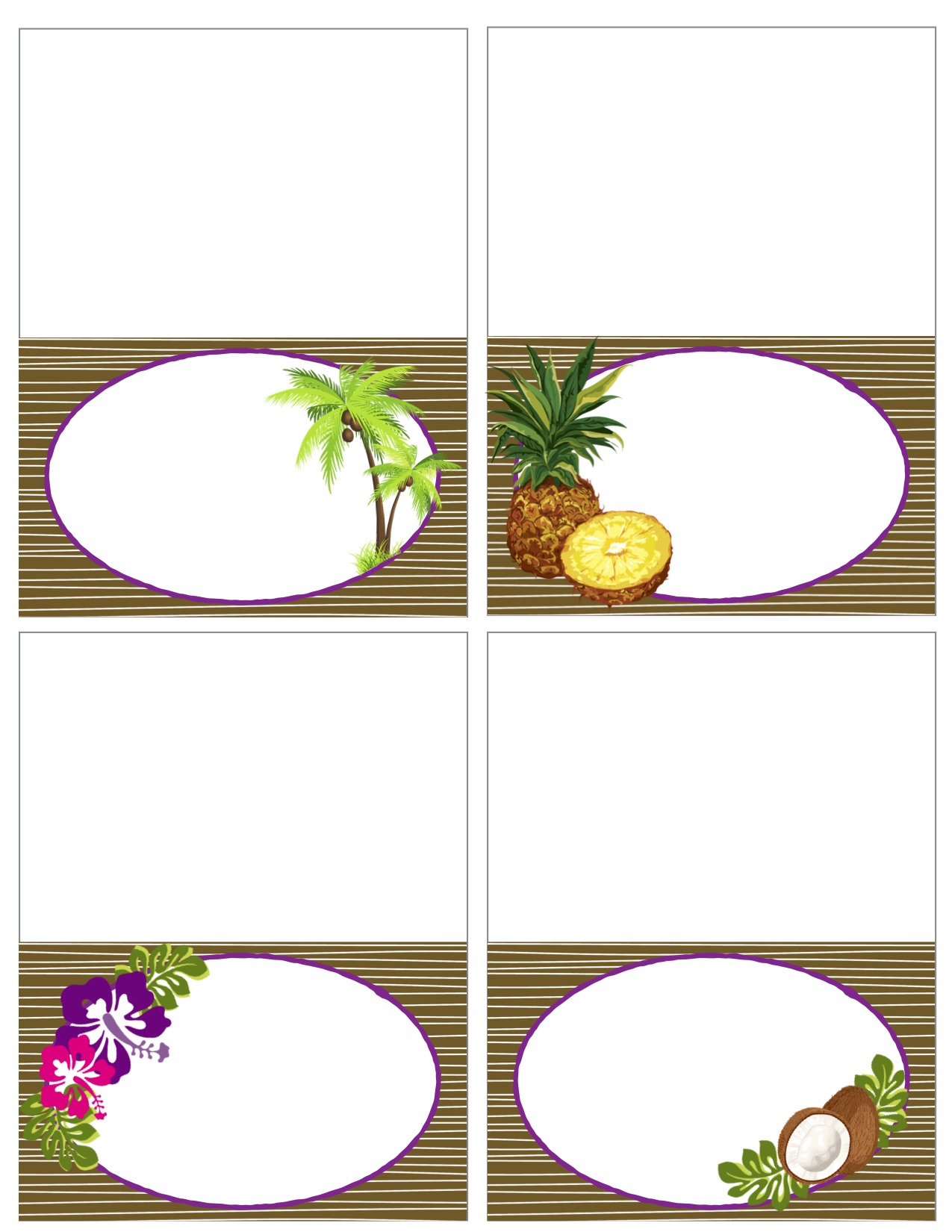picture about Printable Food Labels identified as Printable Common Luau Meals Labels