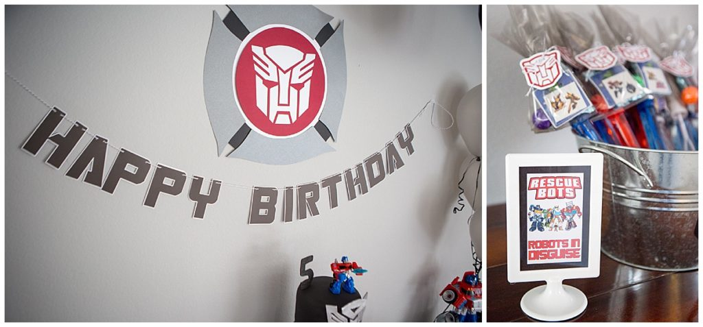 Smash Cake SoCal | Modern Rescue Bots 5th Birthday, Transformers, Optimus Prime, Autobots, Minimalistic, Contemporary, red, black, Heatwave, Chase, dessert bar