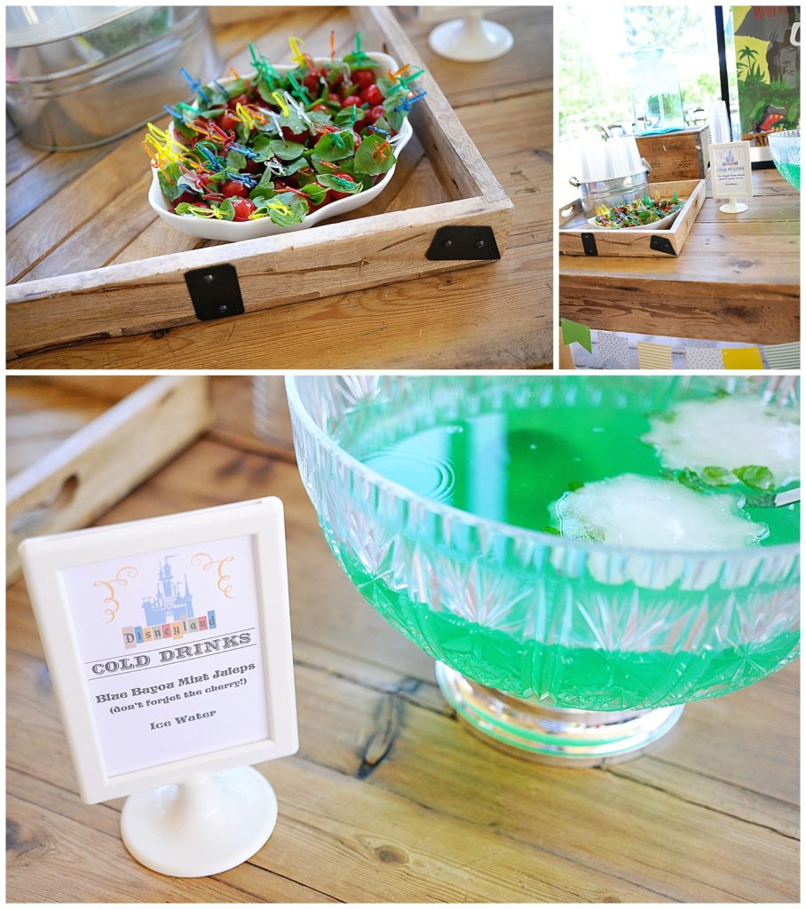 Smash Cake SoCal | Vintage Disneyland Baby Shower for Baby Boy, mickey mouse, mickey head, cupcakes, mickey rice krispies, magic kingdom, happiest place on earth, mint julep