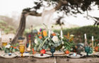 tablescape, florals, vintage dish rentals, boho beach dinner party