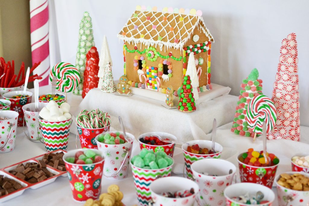 Smash Cake SoCal | Candy Land Gingerbread Decorating Christmas Party, children's party