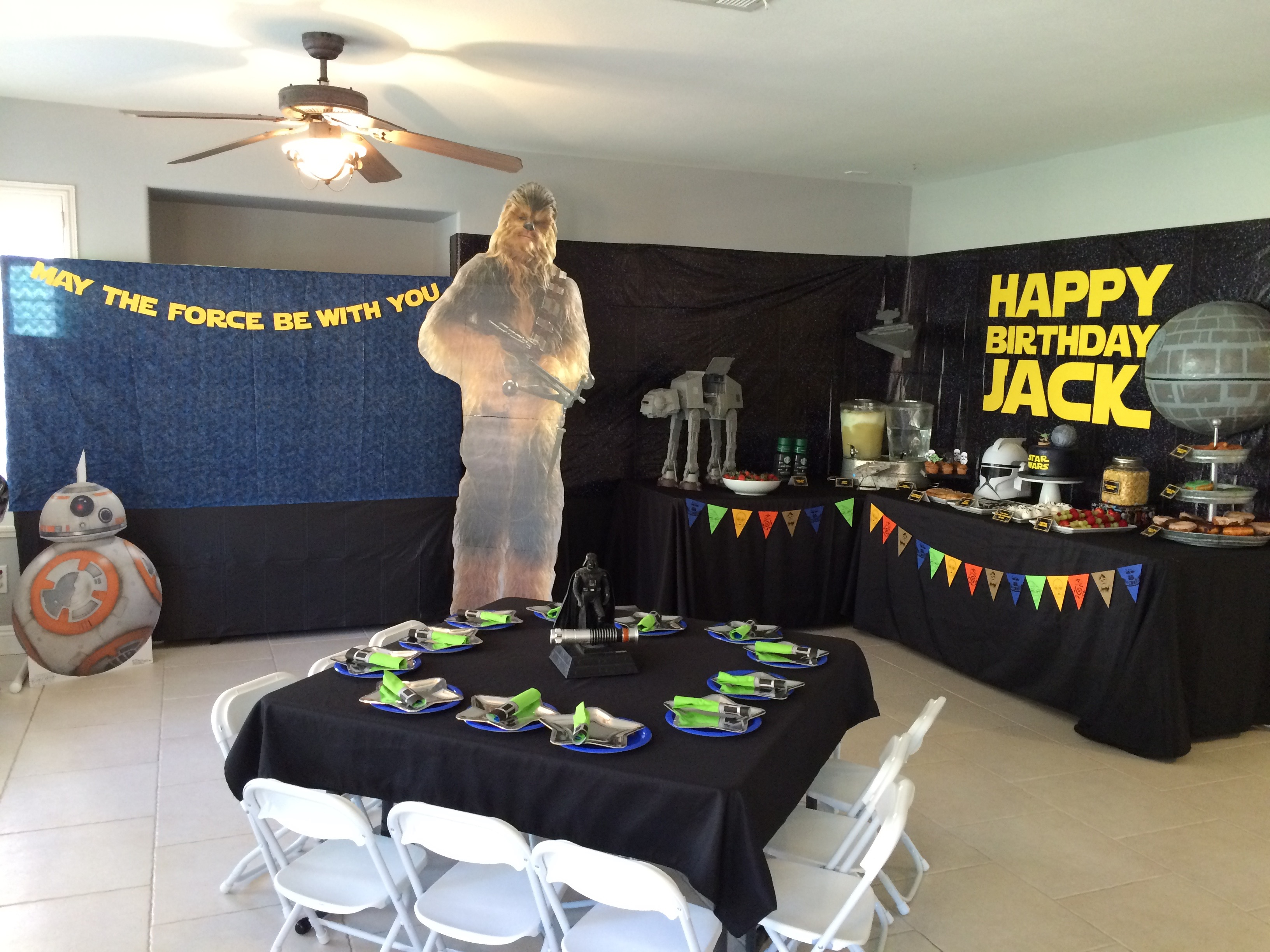 star wars 5th birthday party   free printable