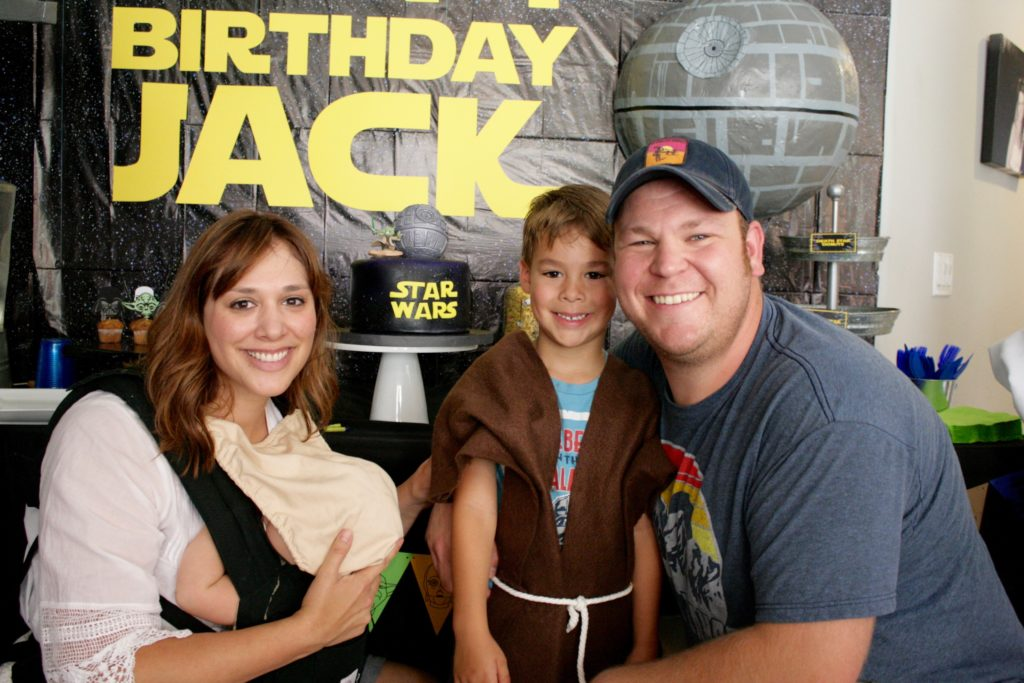 Smash Cake SoCal | Star Wars 5th Birthday party, boys parties, dark side, may the force be with you, death star, star destroyer, paper mache, cake, storm trooper, donuts, breakfast