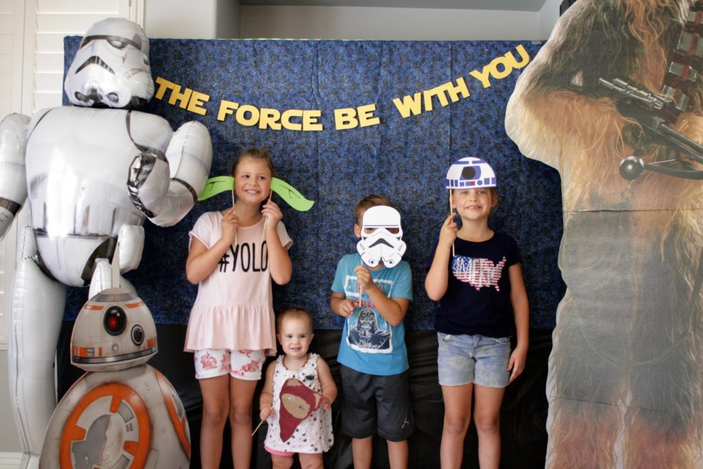 Smash Cake SoCal | Star Wars 5th Birthday party, boys parties, dark side, may the force be with you, death star, star destroyer, paper mache, cake, storm trooper, donuts, breakfast, photo booth