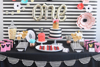 Floral and Stripes Minnie Mouse Party