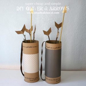 Smash Cake SoCal | DIY quiver and arrows, super cheap and cute craft, Hunger Games craft, kids craft, Bible craft, Sunday School craft