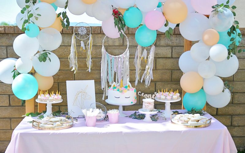 Bohemian Unicorn 1st Birthday