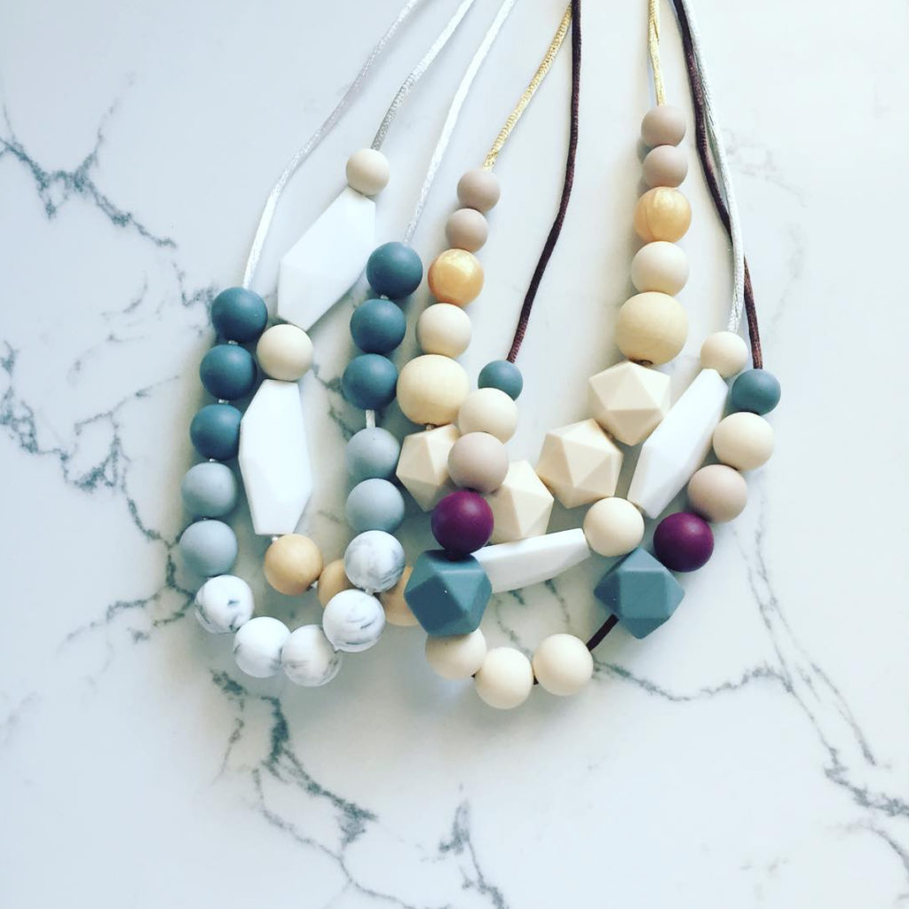Smash Cake SoCal | Friday Feature: Michelle Wade Lucy Bug Boutique, silicone teething necklace, silicone and wood teething necklace, mompreneur, small business, teething accessories, kid safe teething necklace