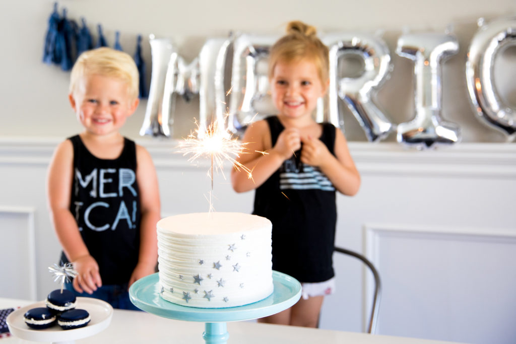 Smash Cake SoCal | Modern #Merica Dessert Bar, balloon letters, paper fan, merica, America, 4th of July, Independence Day, July 4th, Patriot, Freedom, Celebrate, Sparkler, Coke, Cake, Macarons, Cupcake, Sparkler Cupcake Topper, American Flag
