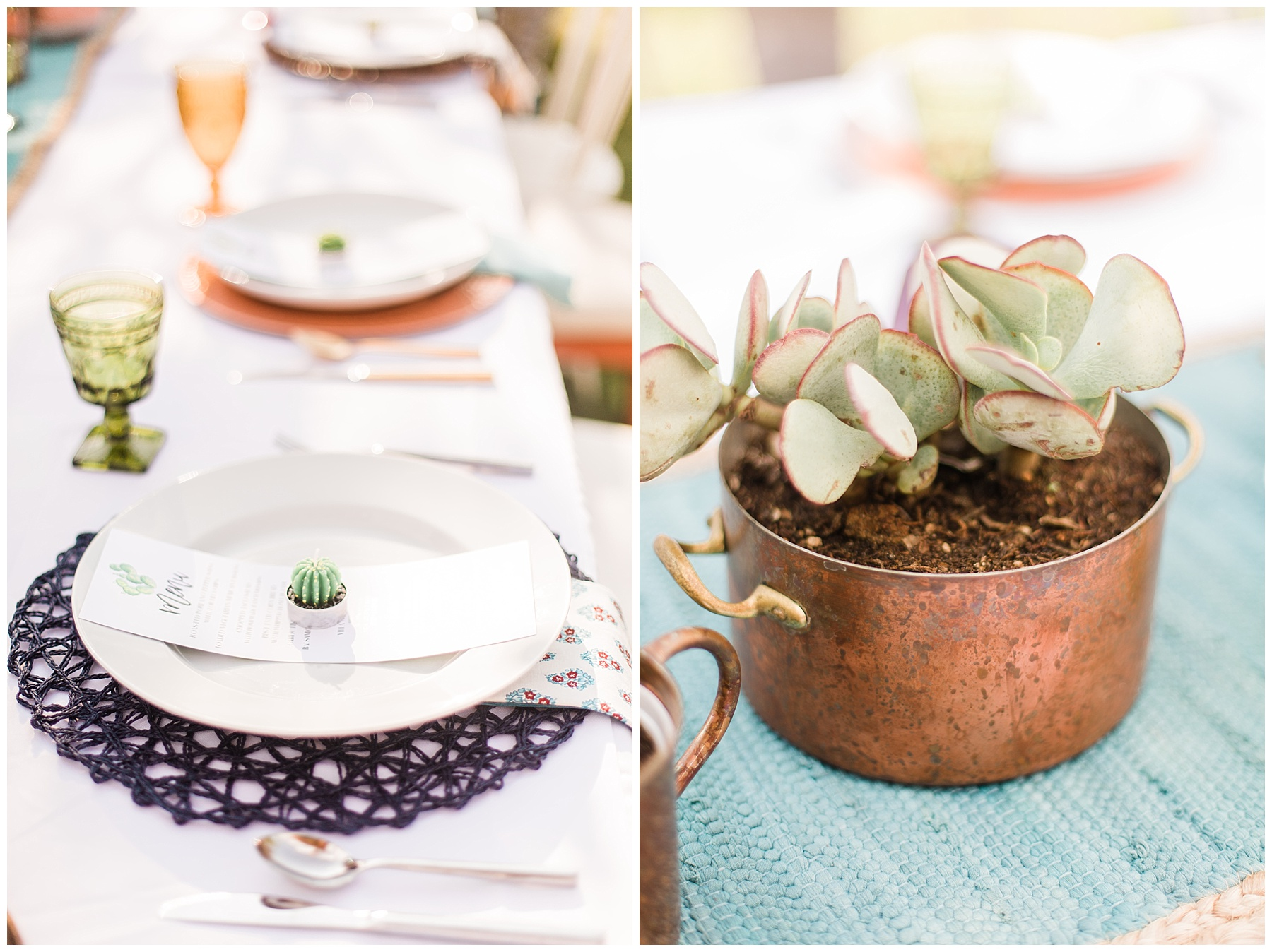 Copper & Cactus Sunset Dinner Party - Smash Cake