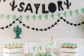 Cute Little Cactus 1st Birthday Party